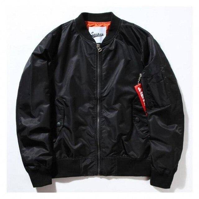 bc404c5f MA-1 Летчик Бомбардировщик Куртка мужская повседневная ввс полета куртка  Мужская Мода осень пальто