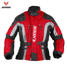 Vêtements de Moto Course Automobile Veste de Motocross DUHAN Hommes Matériel D'équitation Engin Froid-preuve Moto Veste