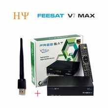 5pcs[Genuine] Freesat V7 Max with USB Wifi 1080p Full HD DVB-S2 Satellite TV Receiver Support Newcamd PowerVu Set Top Box