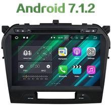 Double 2 din Android 7.1.2 Quad core 2GB RAM 16GB ROM GPS Navi Stereo Car Radio Digital Bluetooth for Suzuki Vitara 2015