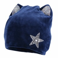 New Women Fashion Winter Beanies Star Skullies Gorros Thick Thermal Warmer Casual Winter Hats Woman Girl