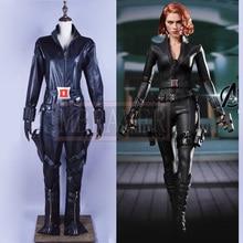 2016 New Marvel The Avengers Black Widow Cosplay Costume Black Widow Natasha Romanoff Cosplay Costume Adult Superhero Costume
