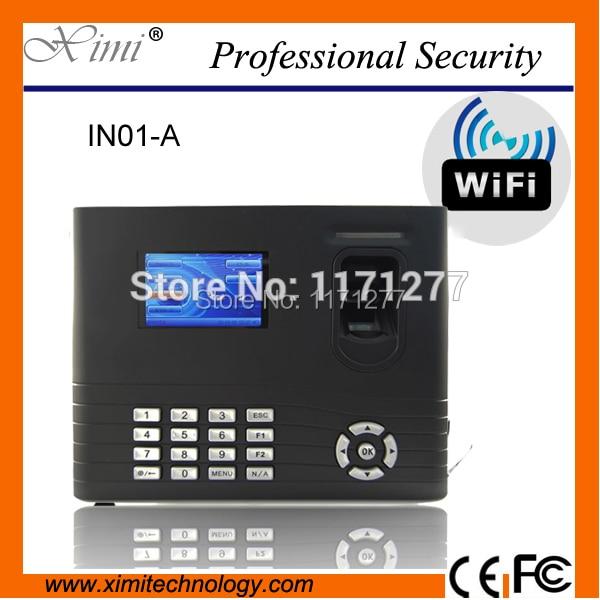 WIFI network linux system built in battery 125KHz card reader device fingerprint time attendance access control network access control staff attendance management system