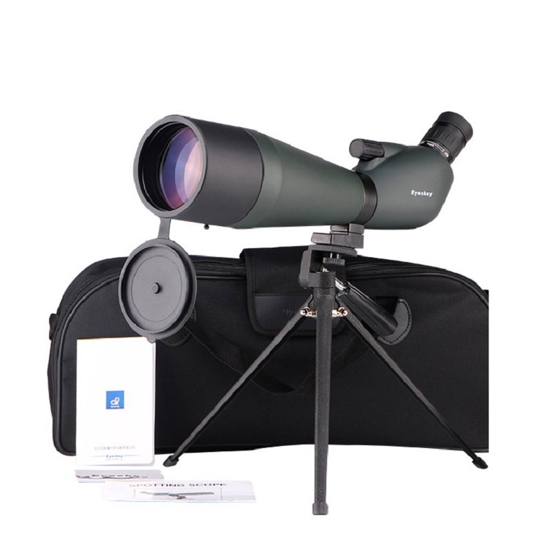20-60x80 Angled Spotting Scope Eyeskey Angled Spotting Scopes Zoom Hunting Telescope Monocular Waterproof Telescope bird watchin цена