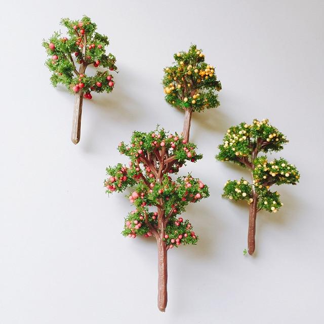 4Pcs Mixed Designs/artificial Fruit Trees/cute Plants/fairy Garden  Gnome/moss