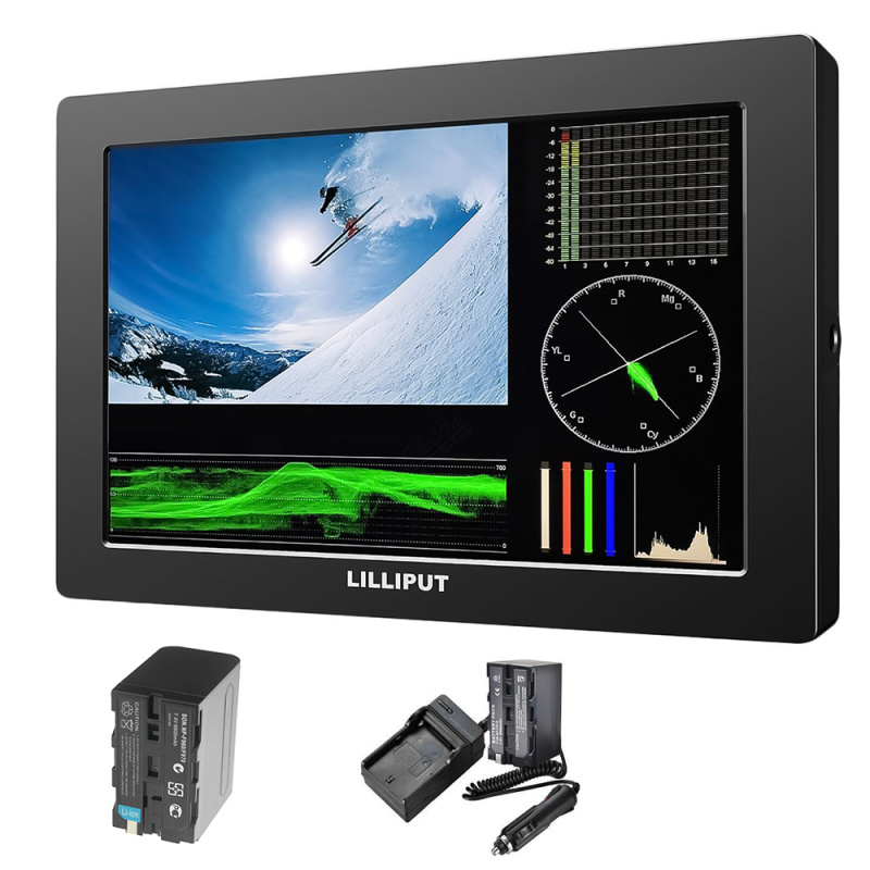Lilliput Q7 Hot Selling 7 inch Full HD LCD 2K Monitor With 3G-SDI and HDMI Cross Conversion + 7 inch Magic Arm Clamp crab clip lilliput 663 s2 7 inch led field monitor with 3g sdi hdmi ypbpr via bnc composite video and sun hood optimised for full hd