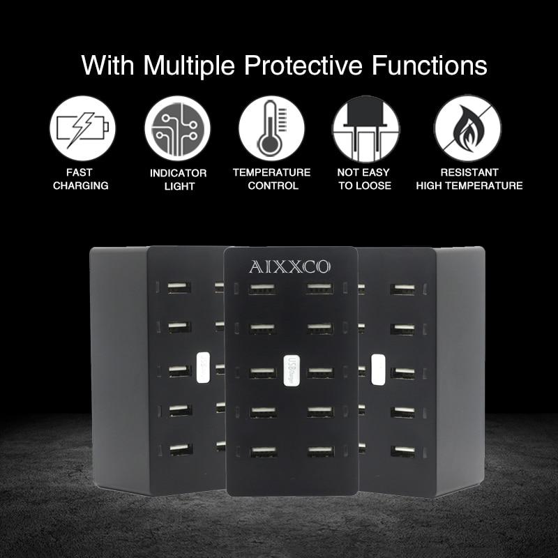Φορτιστής USB AIXXCO 50W 10 θύρες USB 10A - Ανταλλακτικά και αξεσουάρ κινητών τηλεφώνων - Φωτογραφία 3