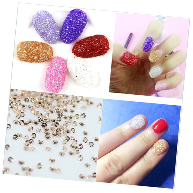 Buy 1 Get 1 Free 1.1mm Clear AB Glass Nail Art Rhinestones Micro Nail Rhinestones Mini Nail Art Decorations Manicure Accessories