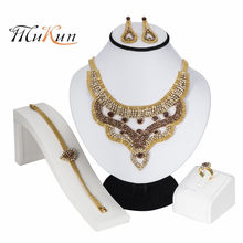 MUKUN Fashion African Jewelry Sets Women Costume Nigerian Wedding Jewelry set Brand Dubai gold color Jewelry set Wholesale gifts(China)