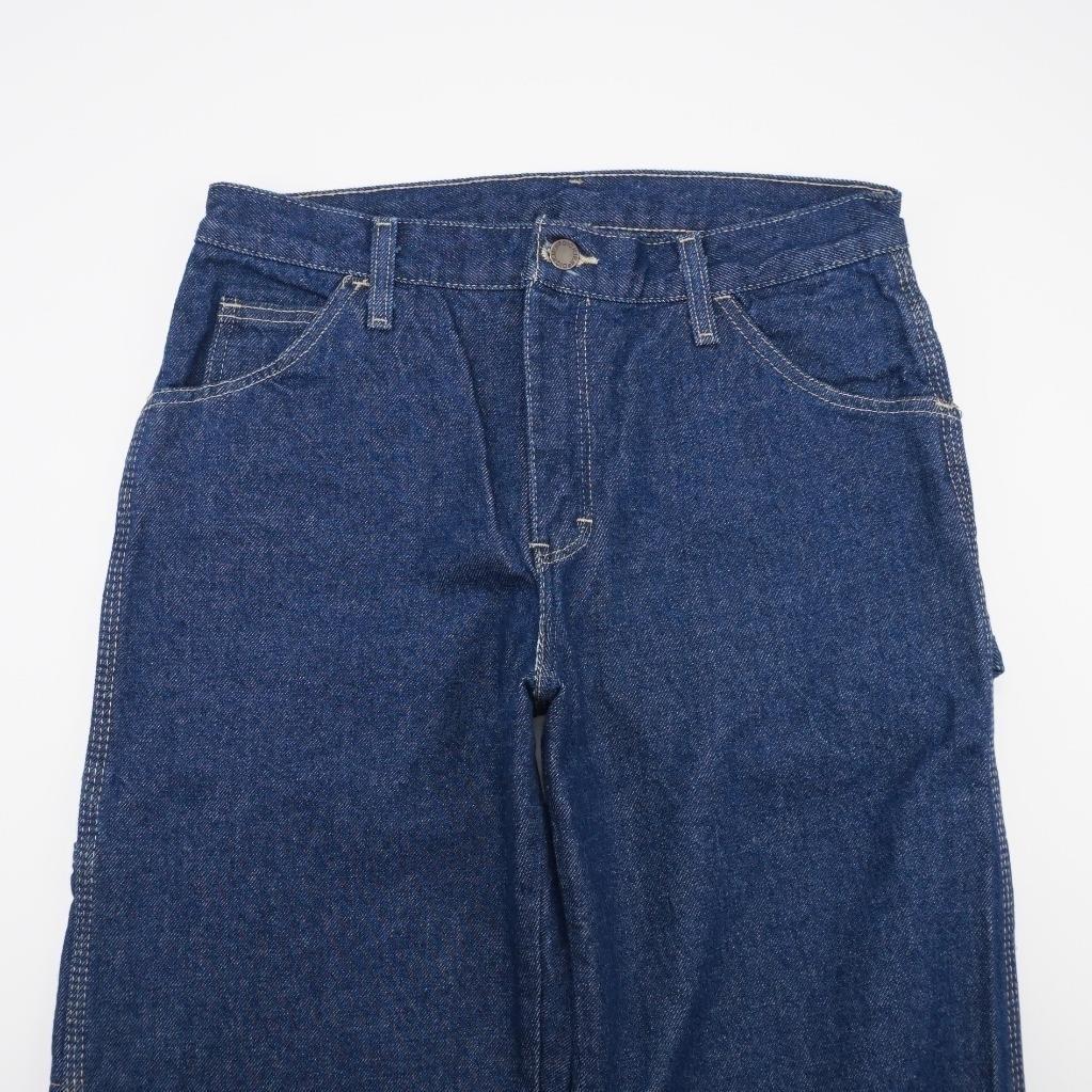 <font><b>DICKIES</b></font> Carpenter <font><b>Jeans</b></font> Relaxed Fit Dark Wash Denim Irreglr Mens 30x35
