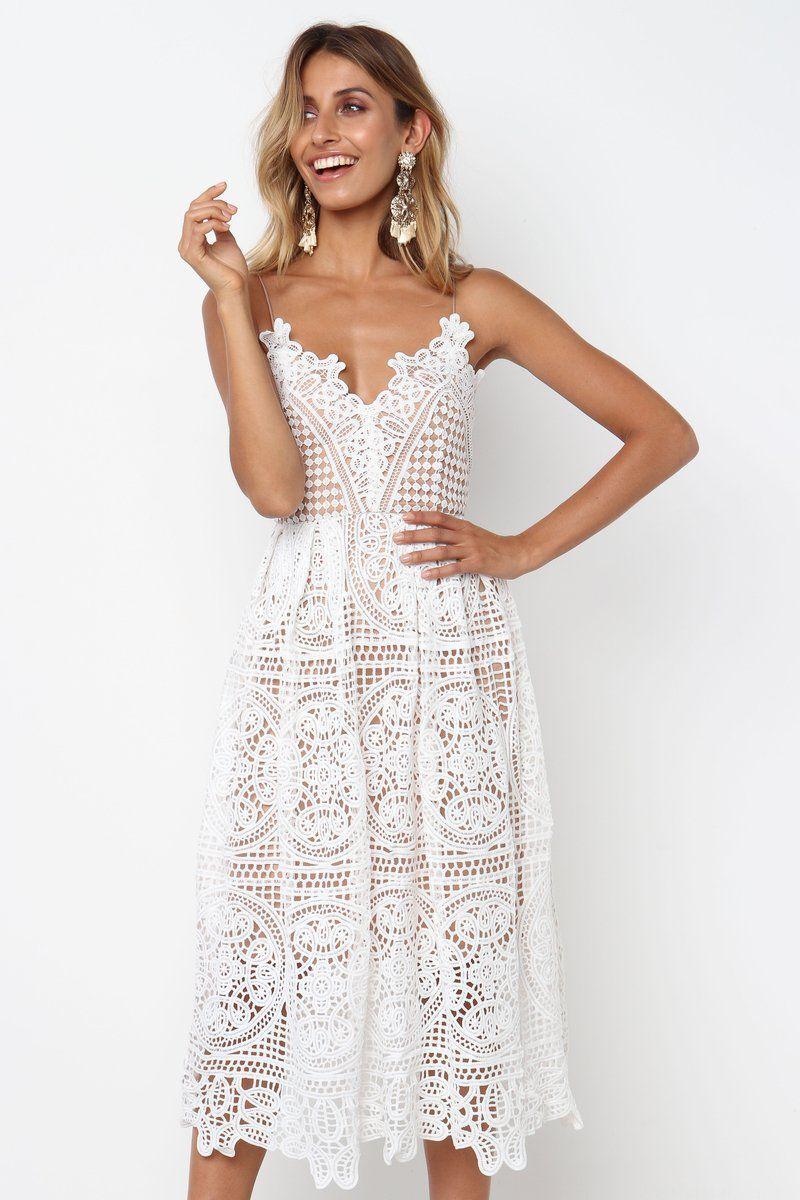 6d66bd8e8b7c7ef Белое кружевное платье на бретельках Vestido Verano Mujer 2019 Sukienka  Lettia Халат средней длины Femme Vestiti