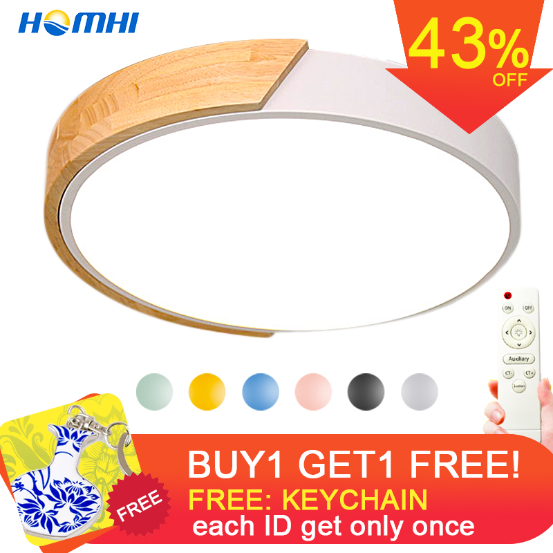 Modern led ceiling light with remote control Loft living room lights bedroom Nordic interior lighting home