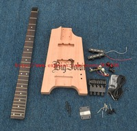Semi Finished Headless Electric Bass Guitar,Mahogany Body with All Hardware No Paint BJ 126