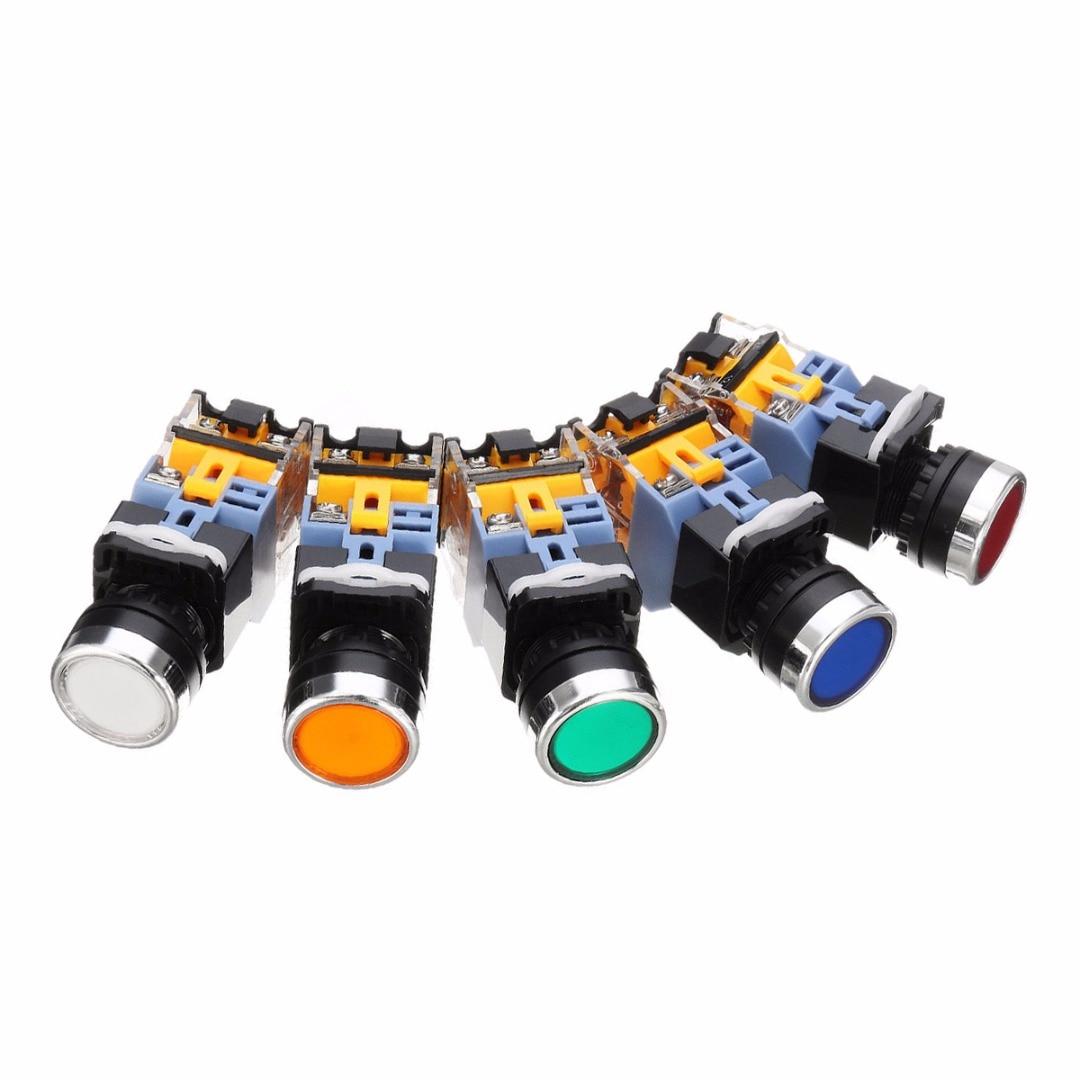 1pc LED Latching Push Button Switch Mayitr SelfLock Control AC ...
