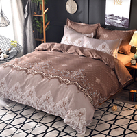American style Bedding using luxury lace quilt cover no sheeting kit bed sack bedding bag