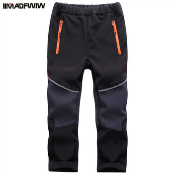 2018 осенне зимние брюки для мальчиков и девочек, походные брюки, уличные флисовые брюки, водонепроницаемые, ветрозащитные, термоштаны для ке
