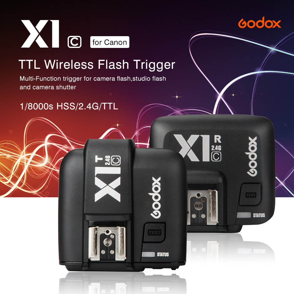 Godox X1C TTL Flash Trigger 1/8000s HSS 32 Channels 2.4 G Wireless LCD Strobe Trigger Transmitter Receiver for Canon 600D 70D
