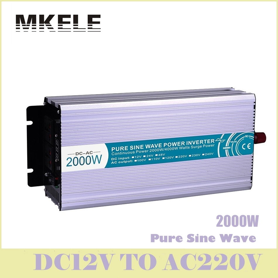 цена на MKP2000-122R High Efficiency Dc-Ac Pure Sine Wave Power Inverter 12v 220v 2000w For Household Solar Voltage Converters China