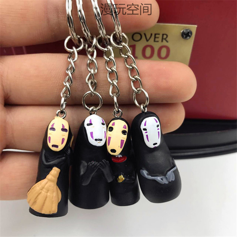 2019 Studio Ghibli Spirited Away No Face Man Vinyl Action Figure Miyazaki Hayao Anime Kaonashi Model Keychain Doll Kid Toy