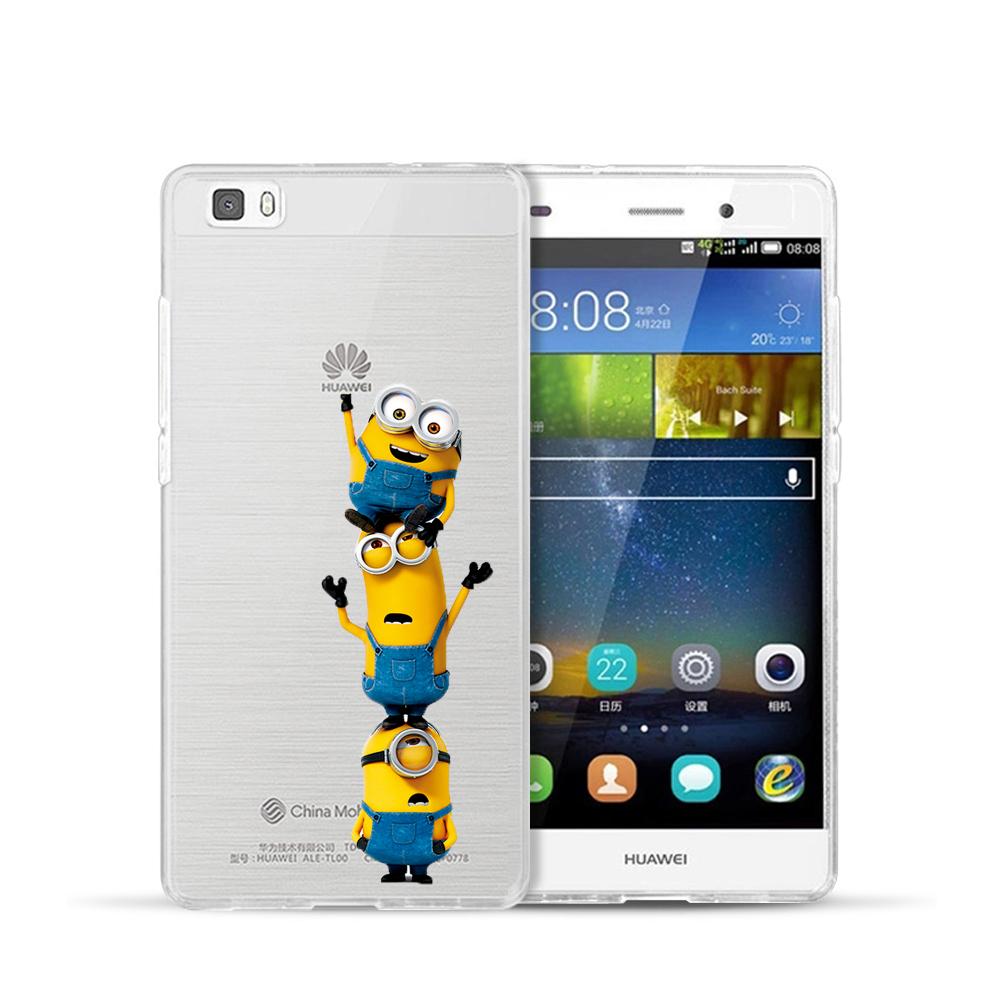 US $1 83 10% OFF|For Huawei Ascend P6 P7 P8 P8 Lite Mini P9 P9 Lite Case  Super Cute Minions Mickey & Minnie Kiss Hard Plastic Phone Cases Cover-in