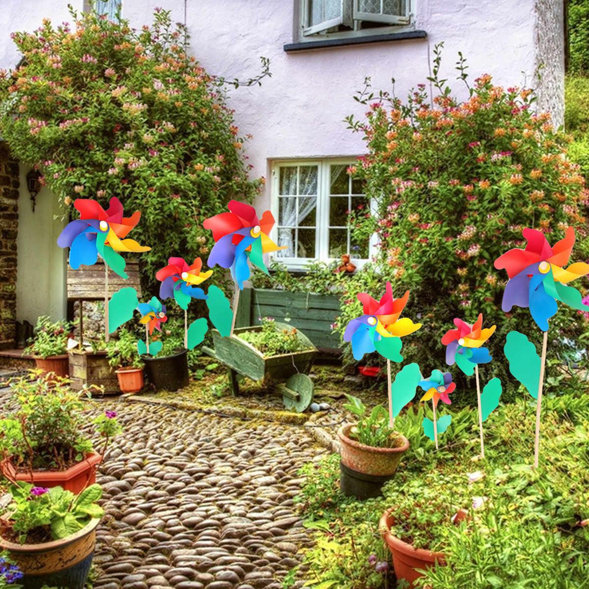 12 см пластиковая ветряная мельница красочные ветряные мельницы детские игрушки для дома, сада, двора Декор уличная игрушка набор