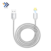 Metal Magnetic Micro USB Cable Nylon Braided Cable Data Sync Charging Cable For Samsung LG