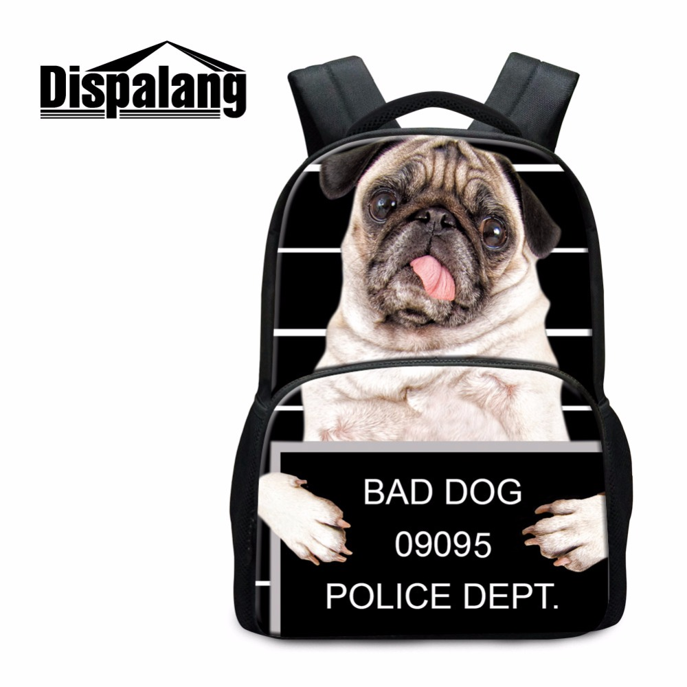Dispalang Designer Children Backpacks Pattern Animal Tiger Dog School Bags for Teens College Students Clear back packs Bookbag