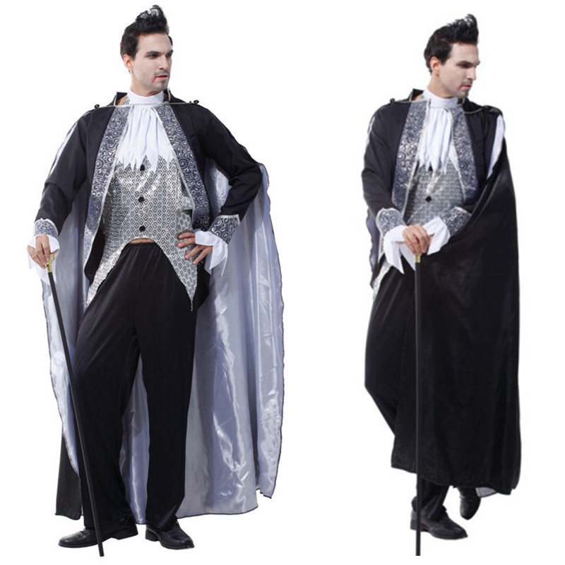 new vampire dracula costume men halloween european aristocracy noble cosplay festival parade carnival masquerade nightclub dress - Halloween Dracula Costumes