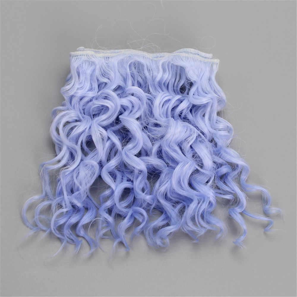 15*100cm yüksek kaliteli vida kıvırcık saç uzantıları için tüm bebekler DIY saç peruk ısıya dayanıklı iplik saç atkı aksesuarları oyuncaklar