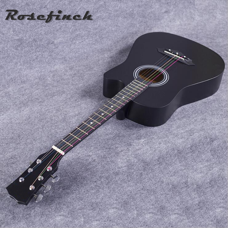 Hot Selling 38 Inch Acoustic Guitar Student Practice Guitar Beginner Entry Basswood Guitar Excellent Musical Instrument AGT15 diduo 40 inch 41 acoustic guitar beginner entry student male and female instrument wound guitarra