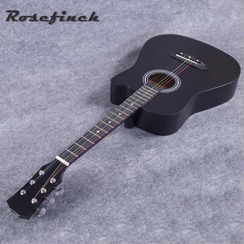 Vente chaude 38 pouce Acoustique Guitare Étudiant Pratique Guitare Débutant Entrée Tilleul Guitare Excellente Musical Instrument AGT15
