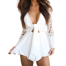 24527b1dff9 (Ship from US) Womens Lace Cocktail Party Pencil Midi Rompers Jumpsuit  Summer Casual Ladies 2019 Clothes For Girls Onesies g12