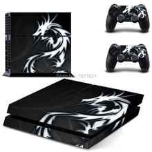 White Dragon For playstation 4 Skin 1Set Vinyl Decal Skin For PS4 Console PS4+2Pcs Stickers For ps4 accessories