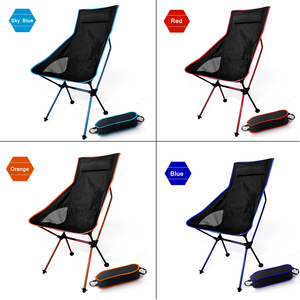 Image 3 - Moon Chairs Fishing Camping Chair BBQ Stool Folding Extended Hiking Garden Furniture Portable Ultra Light Office AL Alloy Seat