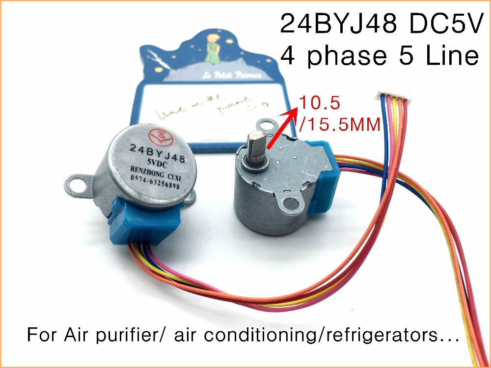US $1 59 |24BYJ48 DC 5V stepper motor,4 phase 5 Line 5V For Air purifier/  air conditioning/refrigerators    (10 5MM shaft)-in Stepper Motor from Home