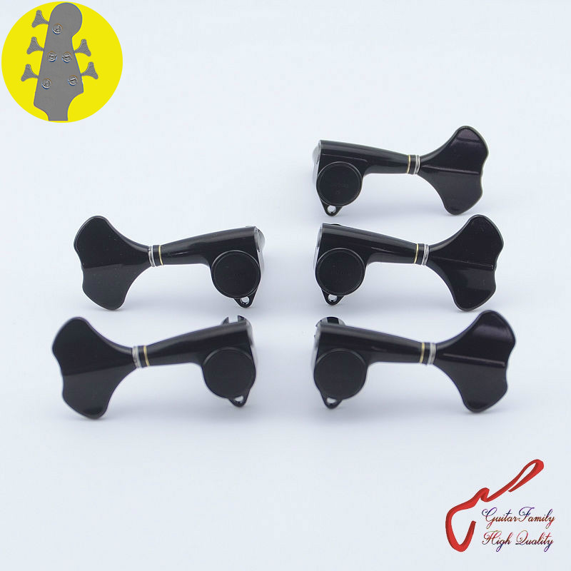 Original Genuine 3+2 GOTOH GB707-5 5 Strings Electric Bass Machine Heads Tuners ( Black ) MADE IN JAPAN original 5 1658462 3