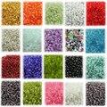 Brillante del grano del espaciador facetadas smooth 2mm semilla del grano de cristal anillos de abalorios de moda agujeros Espaciador de Los granos de la semilla