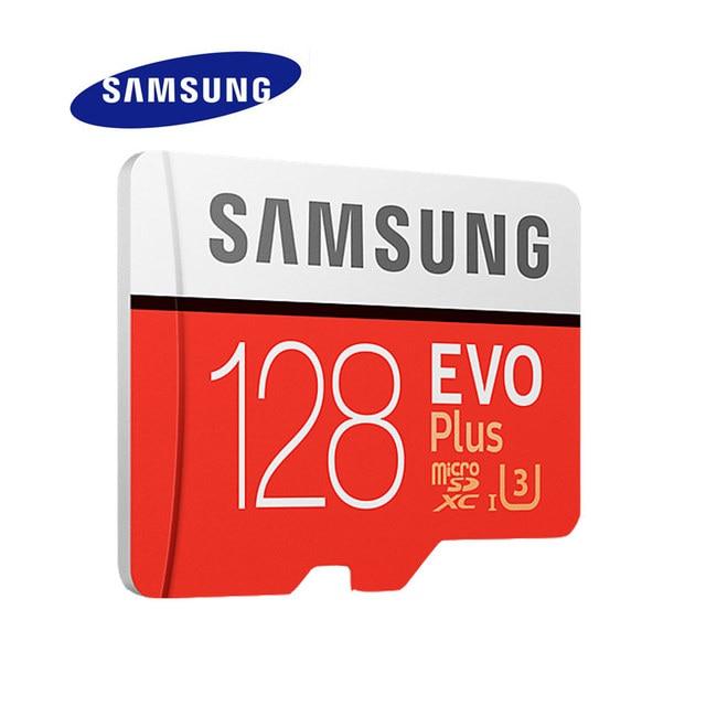 SAMSUNG Micro SD карты памяти EVO + 128 ГБ 100 МБ/с. SDXC C10 U3 UHS-I MicroSD карты памяти EVO Plus 128 г Class 10 Класс 3 100% оригинал