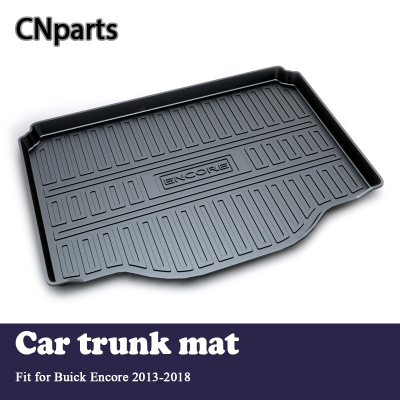 CNparts 1Set Car Cargo rear trunk mat For Buick Encore 2013 2014 2015 2016 2017 2018 Boot Liner Tray Anti-slip Mat accessories