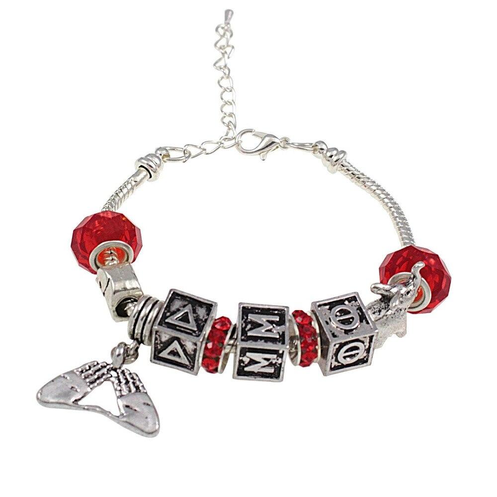 Delta Sigma Theta Earrings: Newest Delta Sigma Theta Sorority Big Beads Red Crystal