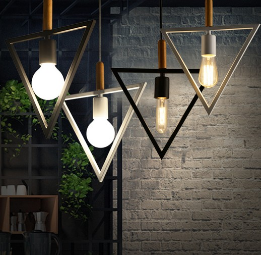 Nordic Loft Iron Art Retro LED Pendant Light Fixtures Industrial Vintage Lighting For Living Dining Room Bar Wood Hanging Lamp retro loft style creative iron art led pendant light fixtures vintage industrial lighting for dining room hanging lamp