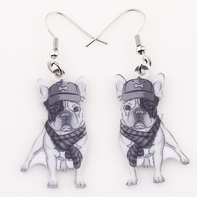 Creative Pug Shaped Acrylic Drop Earrings