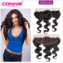 8A Unprocessed Virgin Brazilian Lace Frontal Closure 13×4 With Baby Hair Free Bleached Knots Virgin Body Wave Lace Frontals
