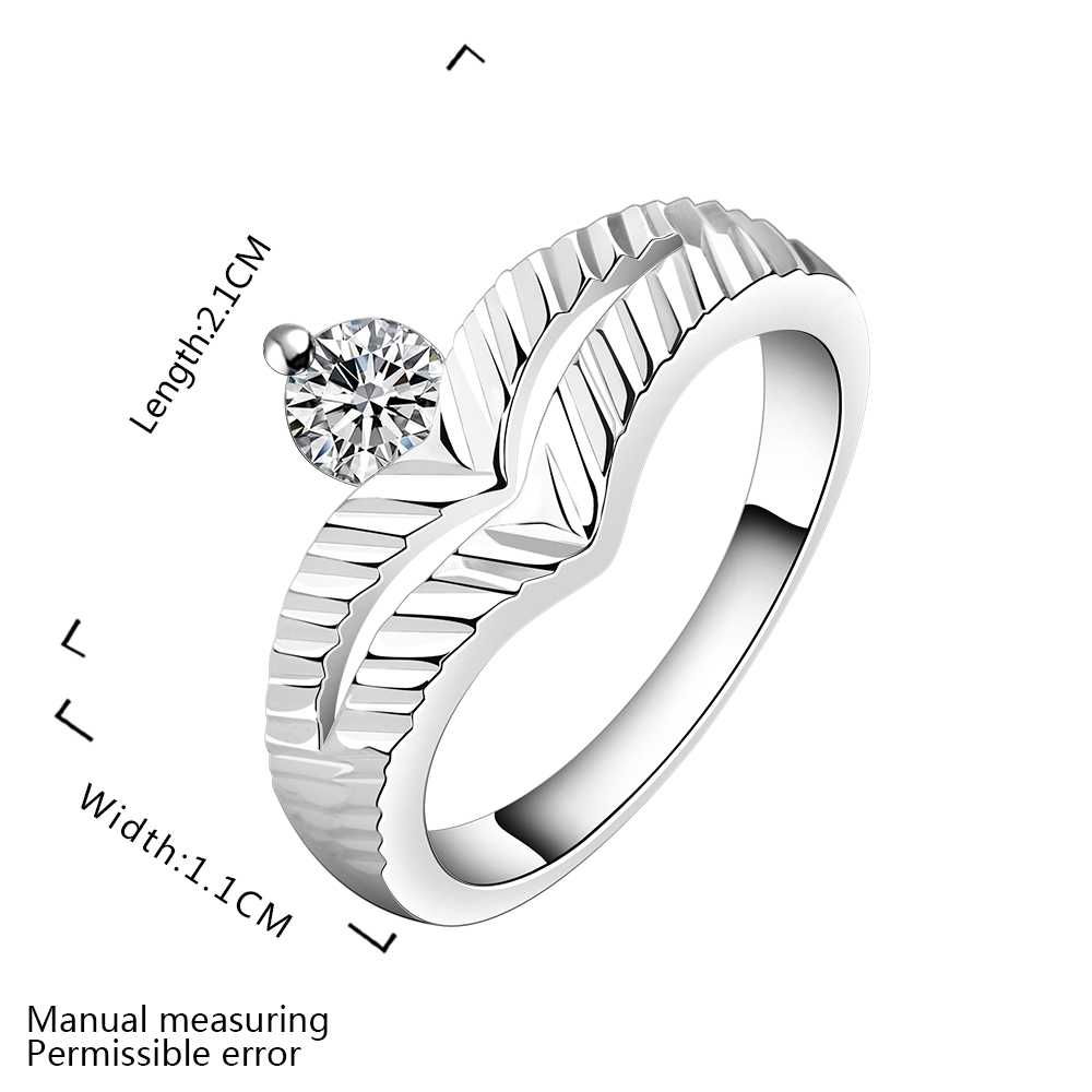 Wholesale Free Shipping silver plated Ring,silver plated Fashion Jewelry up and down crown Ring SMTR502