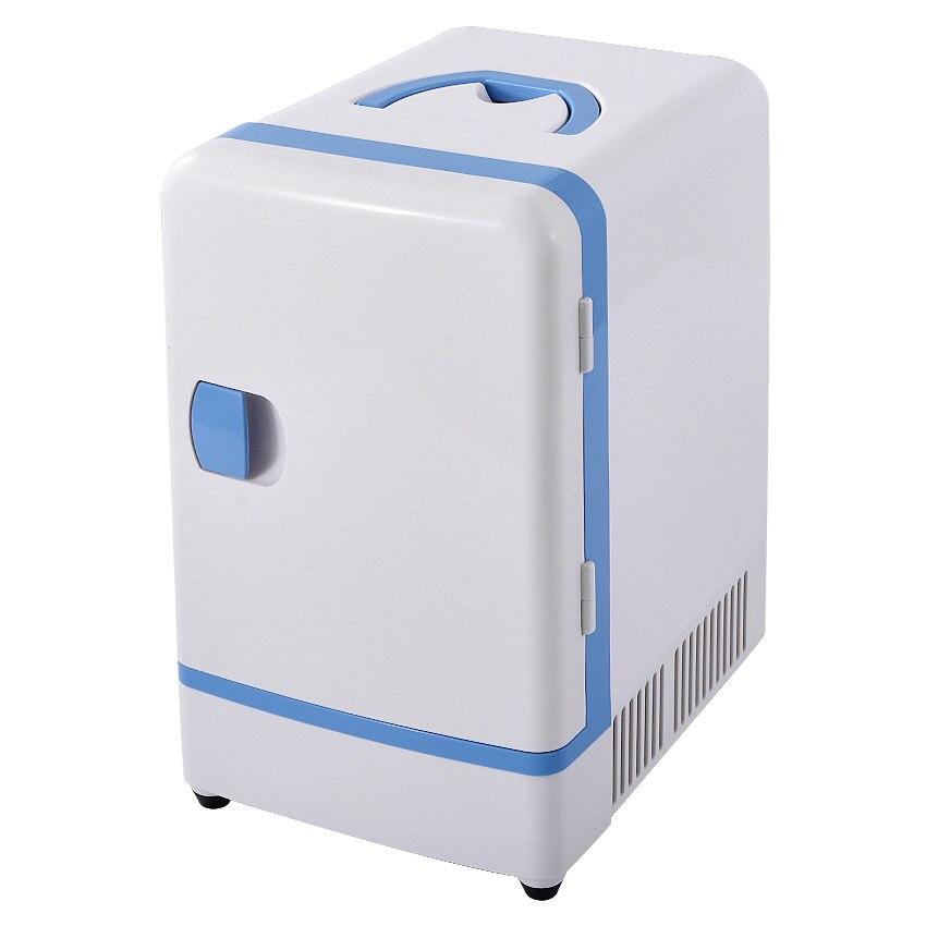 Double Use 12 V 7L Mini Fridge Portable Car Multi-Function Warmer Travel Home Camping Cooler Car Fridge 36-48W Refrigerators