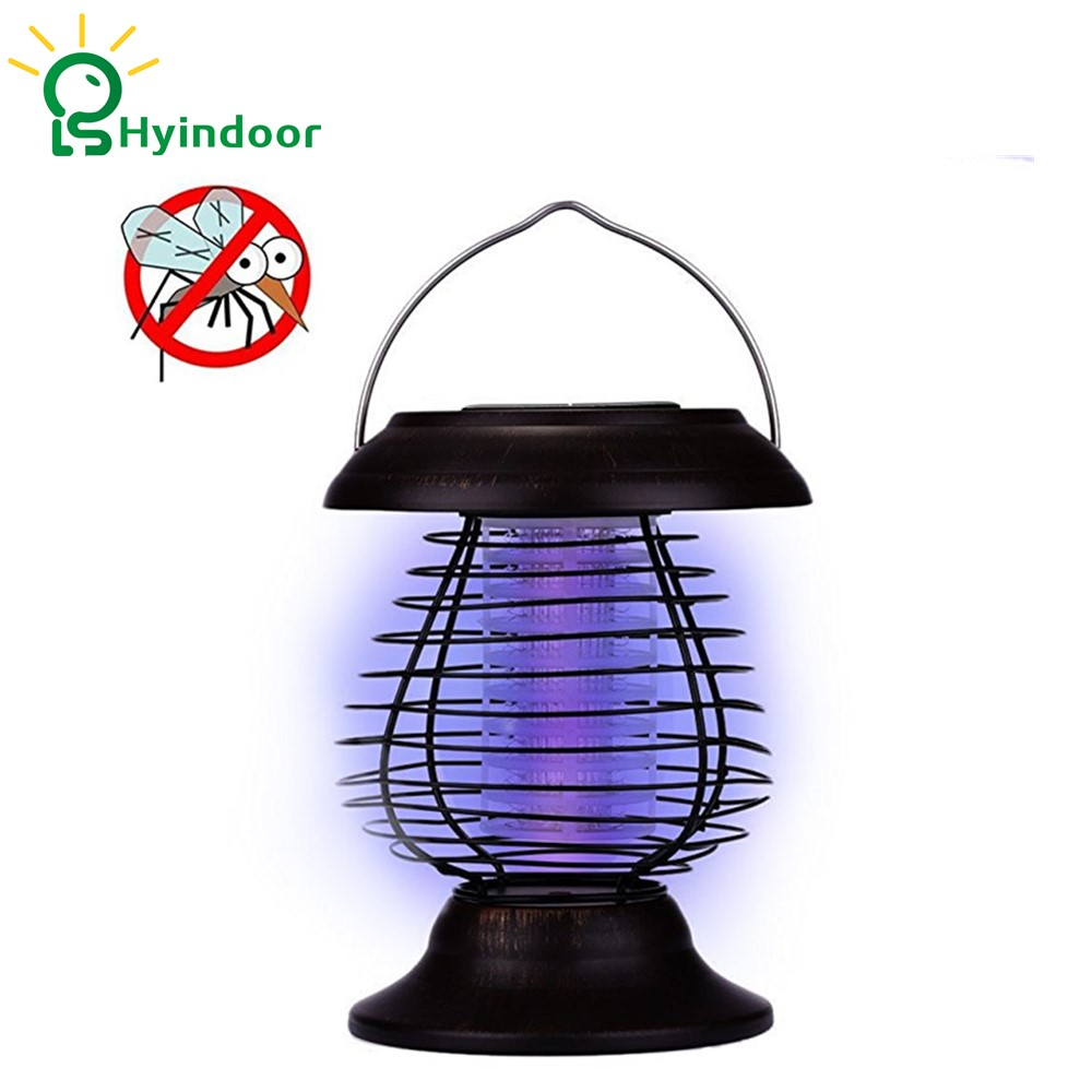 Solar Powered Lamp Mosquito Killer Insecticidal Lights Waterproof Anti-Mosquito Stake Light Insect Killers Trap electric shock mosquito killer lamp led solar powered camp tent bulb light no radiation mosquito trap waterproof outdoor decor