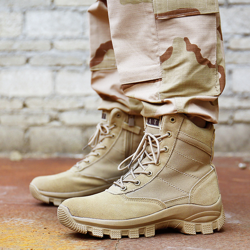 Men Military Tactical Boots Velour Special Force Desert Ankle Combat Boots Safety Outdoor Hiking Shoes Army Boots Erkek Ayakkab men military delta special force tactical boots men s army outdoor desert combat boots shoes botas hombre