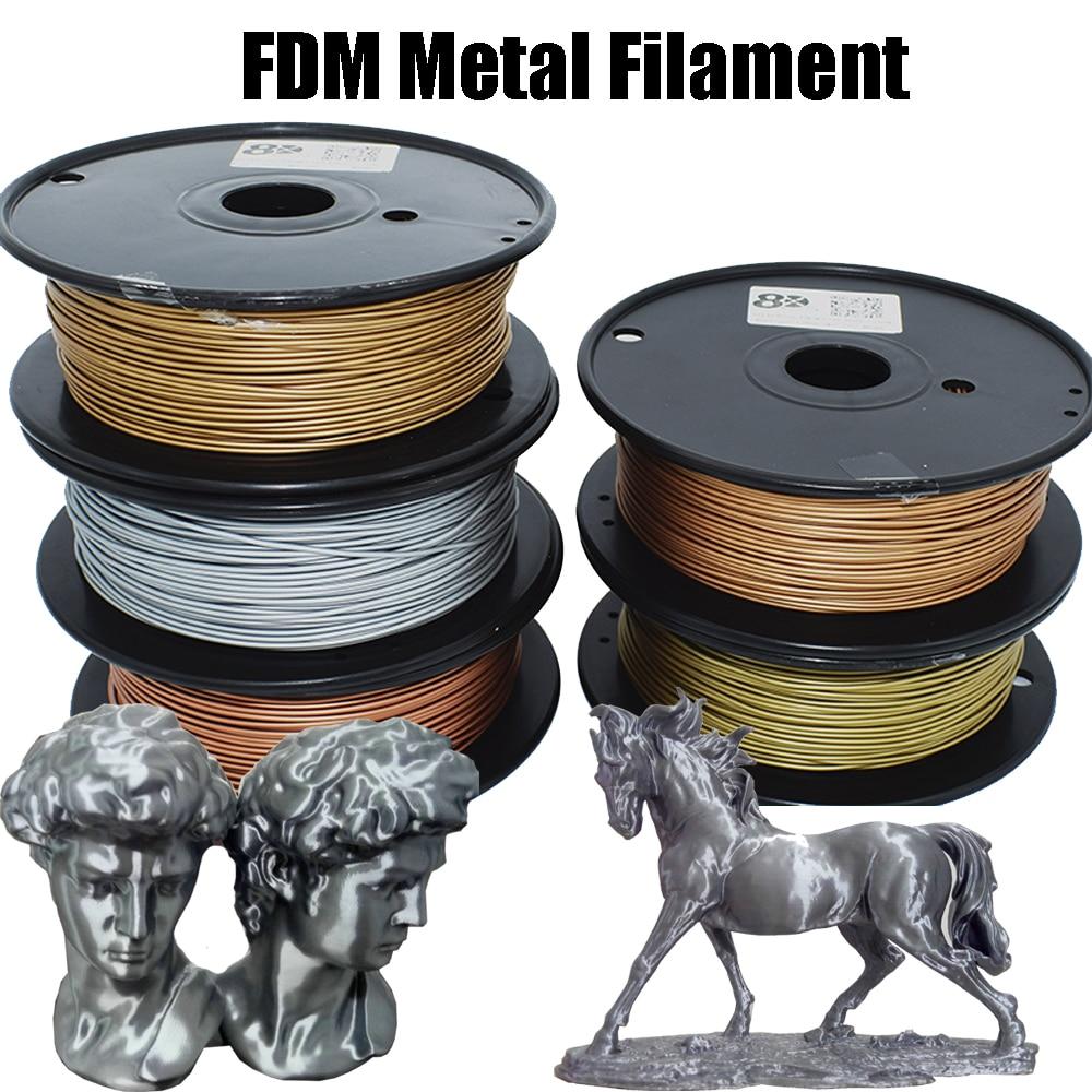 New 0.5KG 1.75MM PLA Basic 30%-40% Metal 3D Printer Filament Consumables Materials Brass/Copper/Bronze/Aluminum