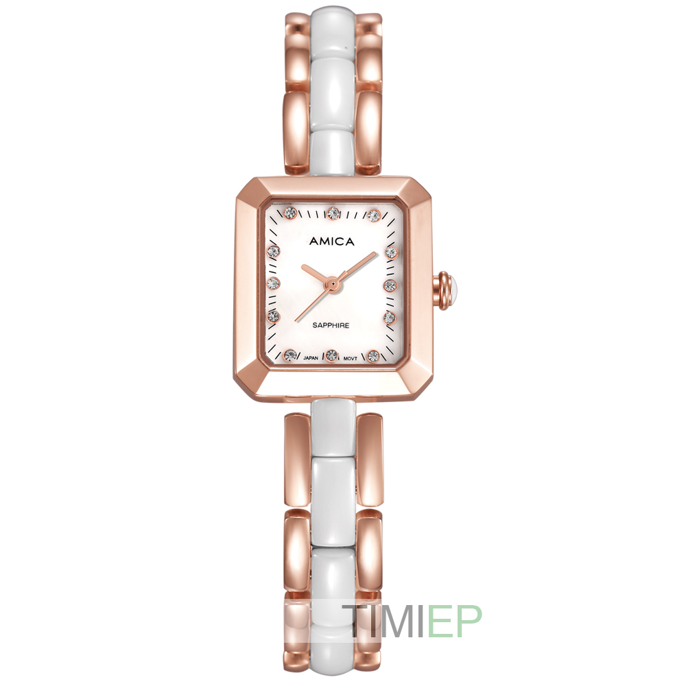 Amica Womens D-Ceramics Quartz Sapphire Stainless Steel Wrist Watches A-4-6Amica Womens D-Ceramics Quartz Sapphire Stainless Steel Wrist Watches A-4-6