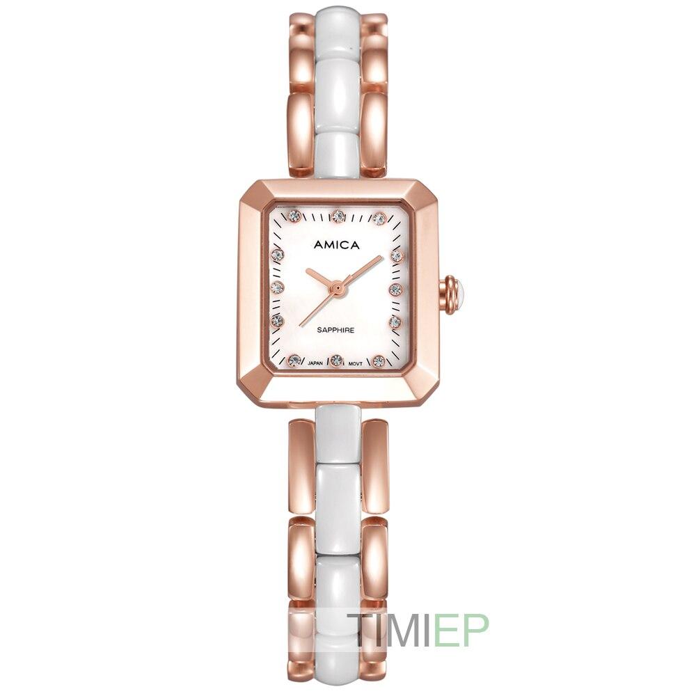 Amica Women's D-Ceramics Quartz Sapphire Stainless Steel Wrist Watches A-4-6 круг алмазный по керамике 1a1r ceramics elite 200x1 6x7 0x25 4 diam 000547